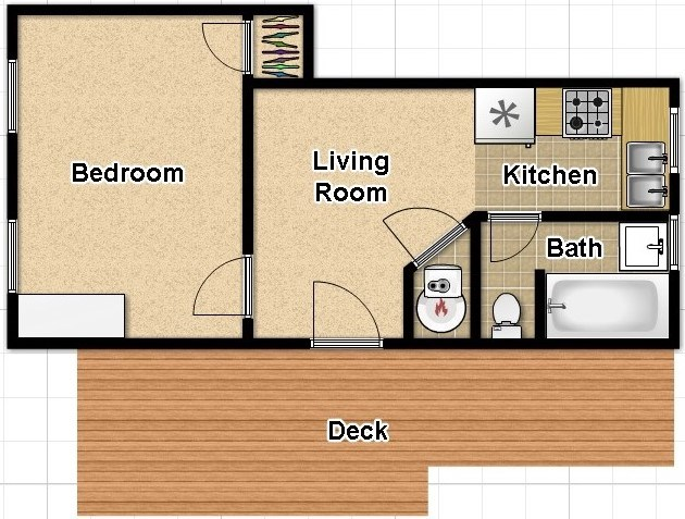 Unit F Floor Plan
