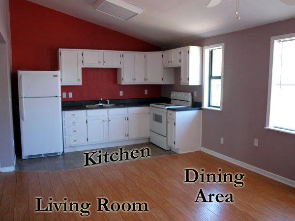 Unit G Living Room/Kitchen